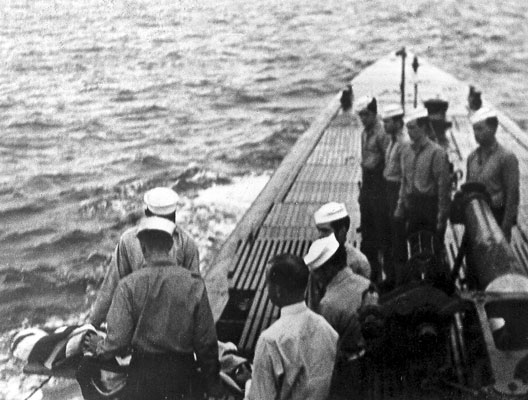 Burial at sea of Ralph Clark Huston, Jr., of USS Cobia (SS-245)