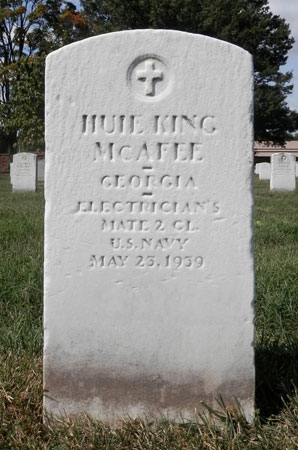 Huie King McAfee marker