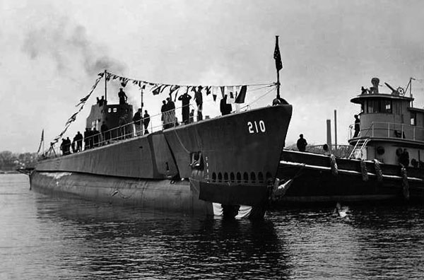 USS Grenadier Launching