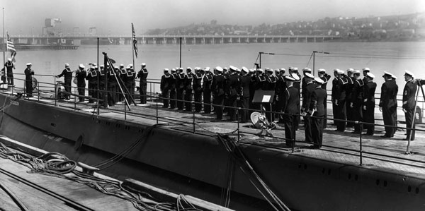 USS Gudgeon Commissioning