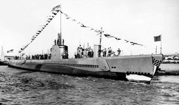 USS Tullibee (photo altered)
