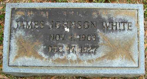James Johnson White marker