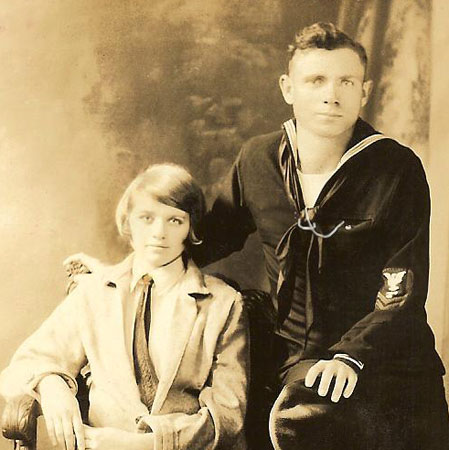 Ray Amos Freeman and his wife, Lois