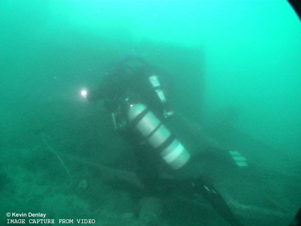 USS Perch - Diver Beside Fairwater