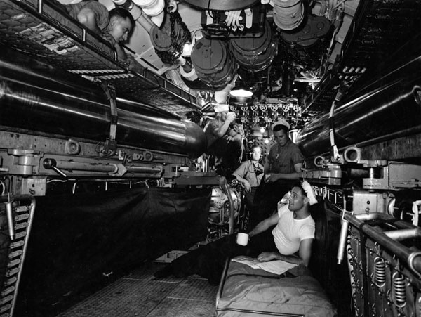 USS Corvina Forward Torpedo Room
